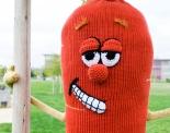 Carrot Tree Yarn Bomb San Mateo